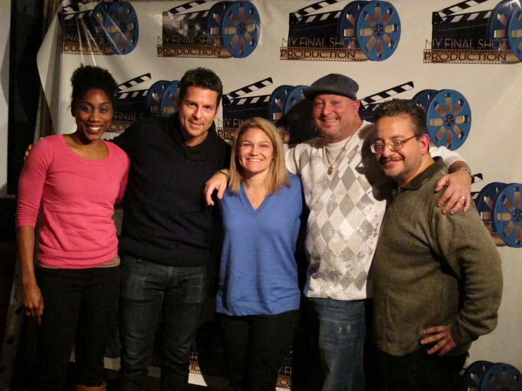 A group of actors, directors and other artists gathered at Neir's last week, including Jowanda Durham, left, Ed Trucco, Lori Martini, James McClory, and Mauricio Zapata.