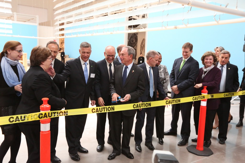 Mayor Bloomberg, Queens legislators and other officials cut the ribbon to the newly renovated Queens Museum of Art last week. Photos Courtesy the Mayor's Office