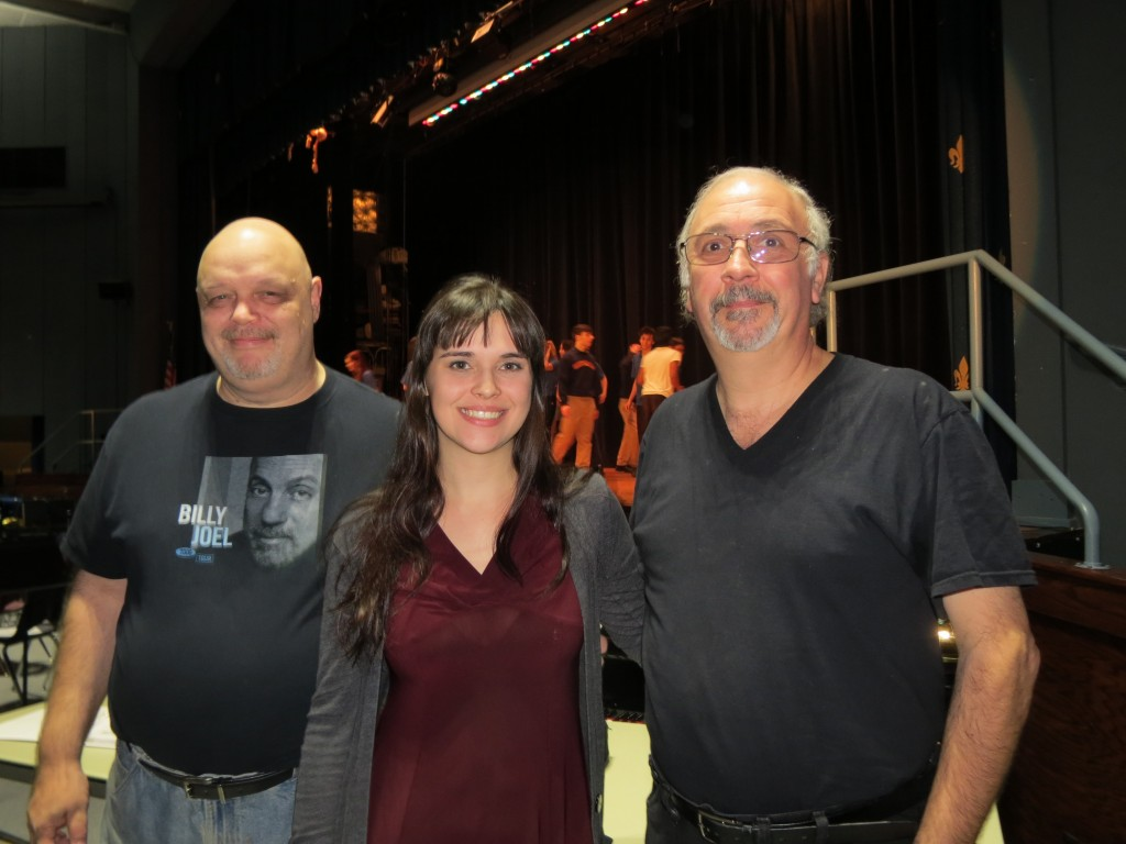 The production's co-directors, John Bellington, left, Heather Arzberger, and Frank DeBiase said they have been thrilled to watch their students grow during the months of rehearsals.