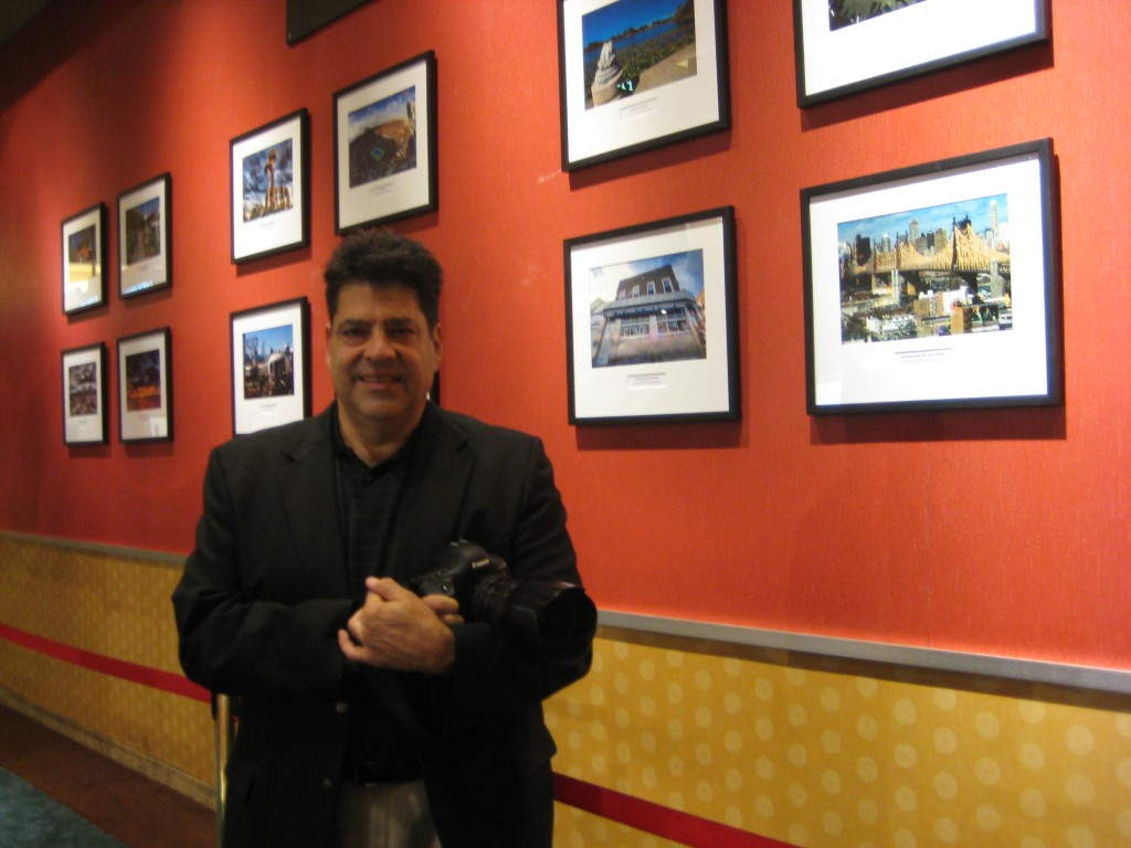 Dominick Totino's photos at a newly unveiled exhibit at Resorts World help to tell the story of Queens. Phil Corso/The Forum Newsgroup