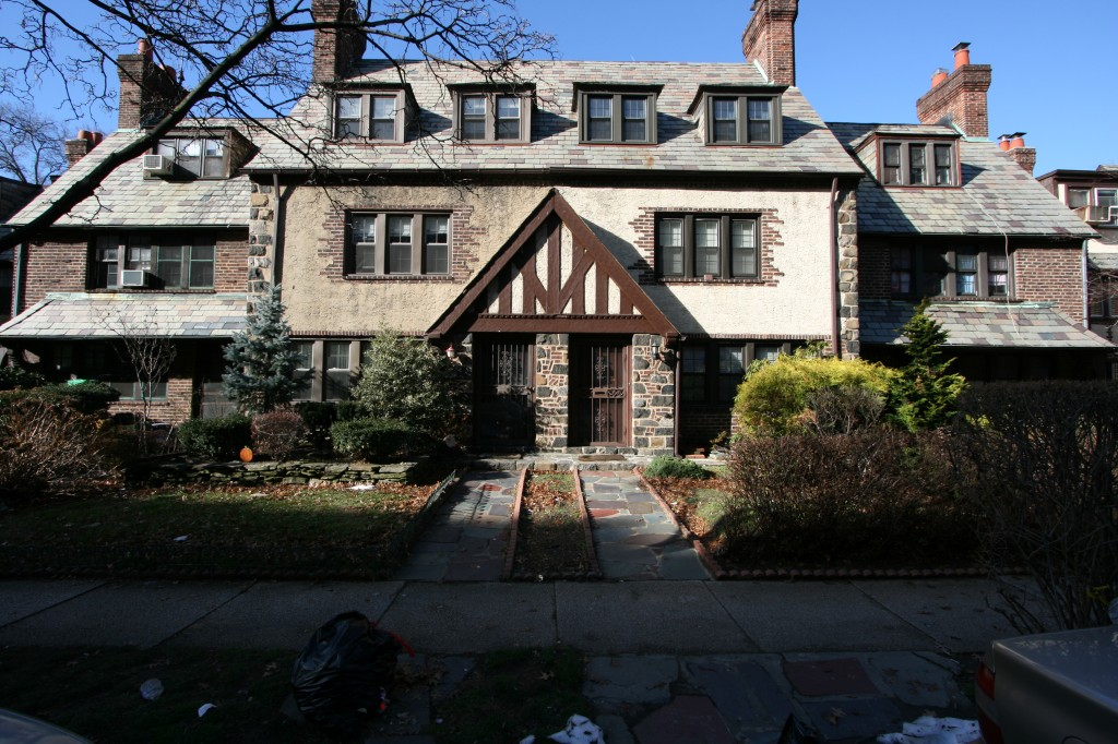 Forest Close, a 38-home enclave in Forest Hills, was recently feted by the city as a historic area to celebrate, in part because the group said it was a prime example of Tudor architecture. Photo courtesy Michael Perlman