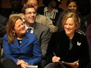 Council Speaker Melissa Mark-Viverito, left, and Borough President Melinda Katz at the inauguration ceremony.