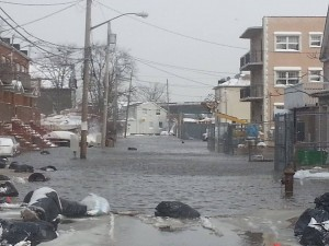 Area leaders are calling on the city to conduct a study on flooding throughout South Queens and Rockaway, including on the pictured Beach 84th Street.   Photo courtesy Brett Scudder