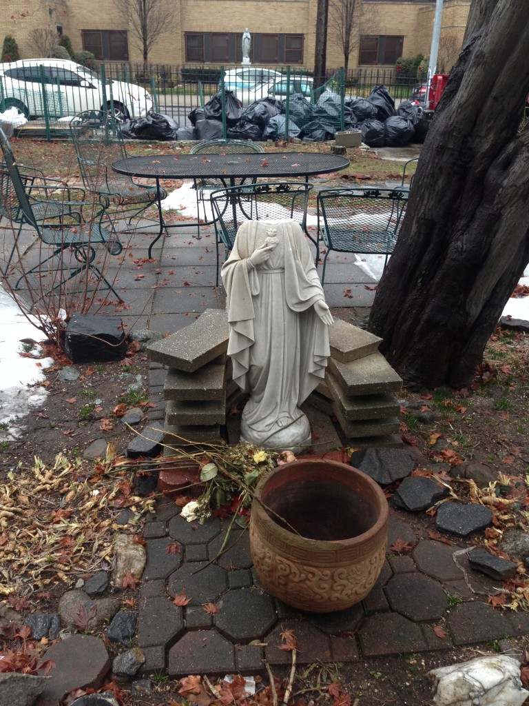 Community outraged after St. Mary Gate of Heaven Blessed Mary Statue is Decapitated