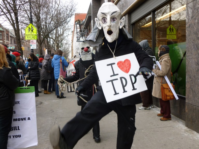 Activists question Crowley's commitment to controversial trade deal