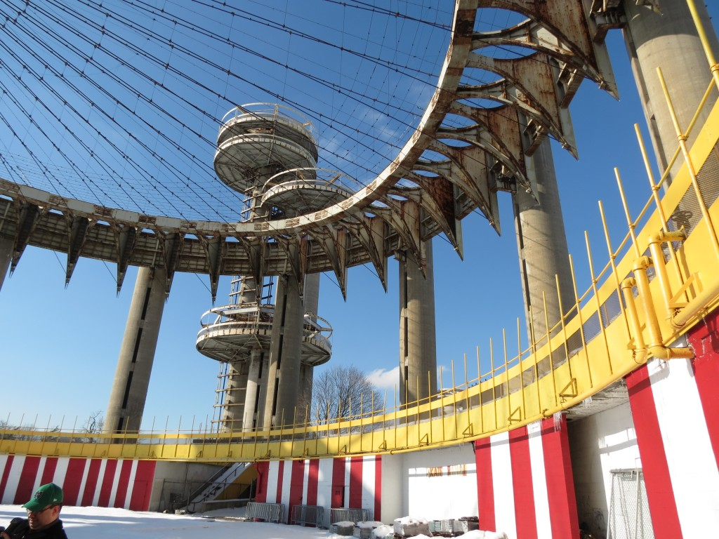 The New York State Pavilion, which was built for the 1964 World's Fair, has been deteriorating for decades.  Photo by Anna Gustafson