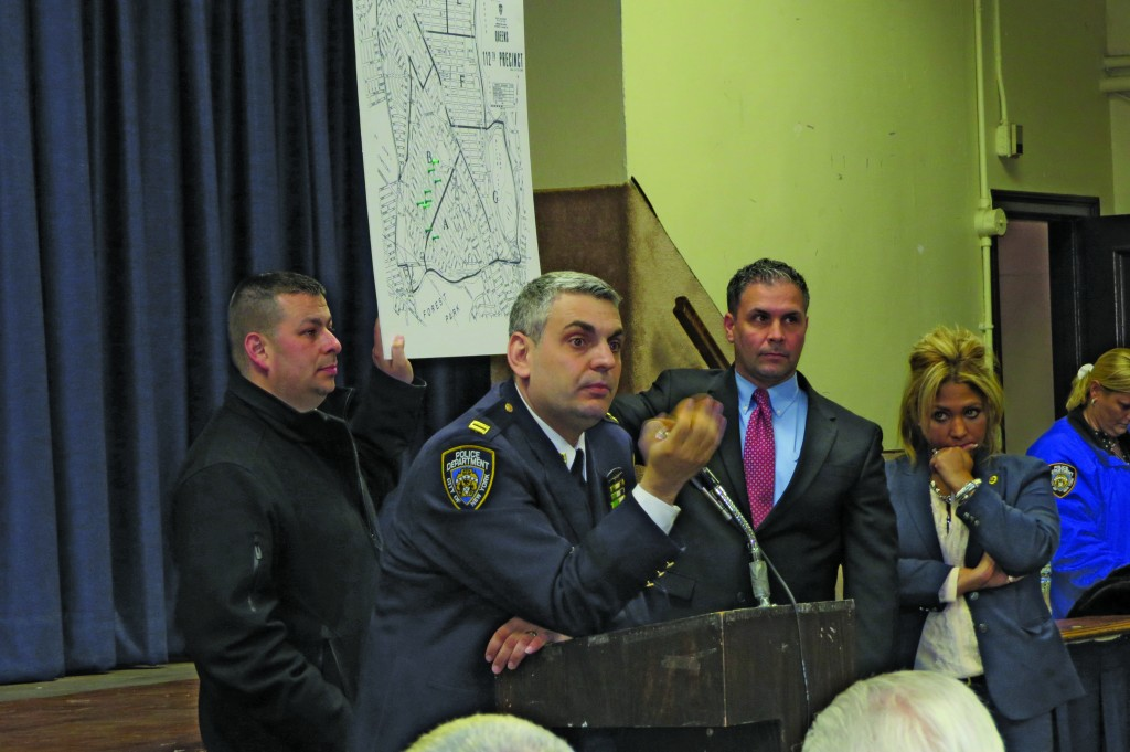 112th Precinct Capt. Thomas Conforti said the telephone scams were one of the most abundant crimes in the area as of late, and the best way to combat the fraud was to spread the word. File photo
