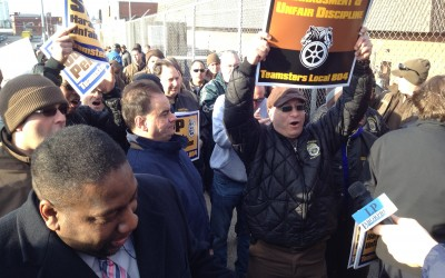 Maspeth workers rally to save hundreds of jobs at UPS site