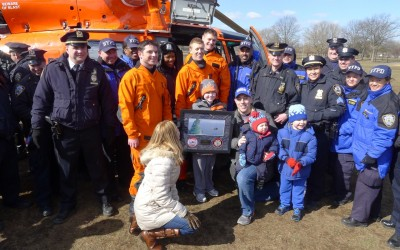 Middle Village Boy Lands Visit from U.S. Coastal Guard