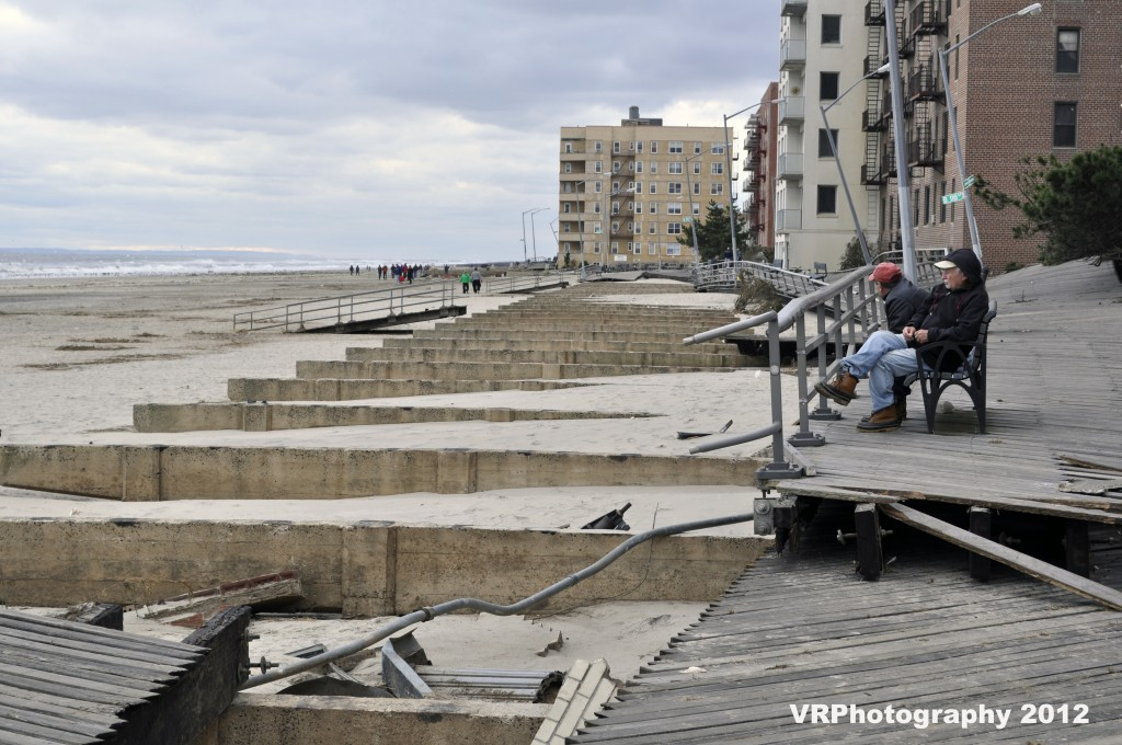 Hurricane Sandy destroyed the famous Rockaway boardwalk, tossing pieces of the structure as though they were toothpicks during the storm. The city aims to rebuild the boardwalk by 2017, but residents are crossing their fingers for a date closer to the present. File photo
