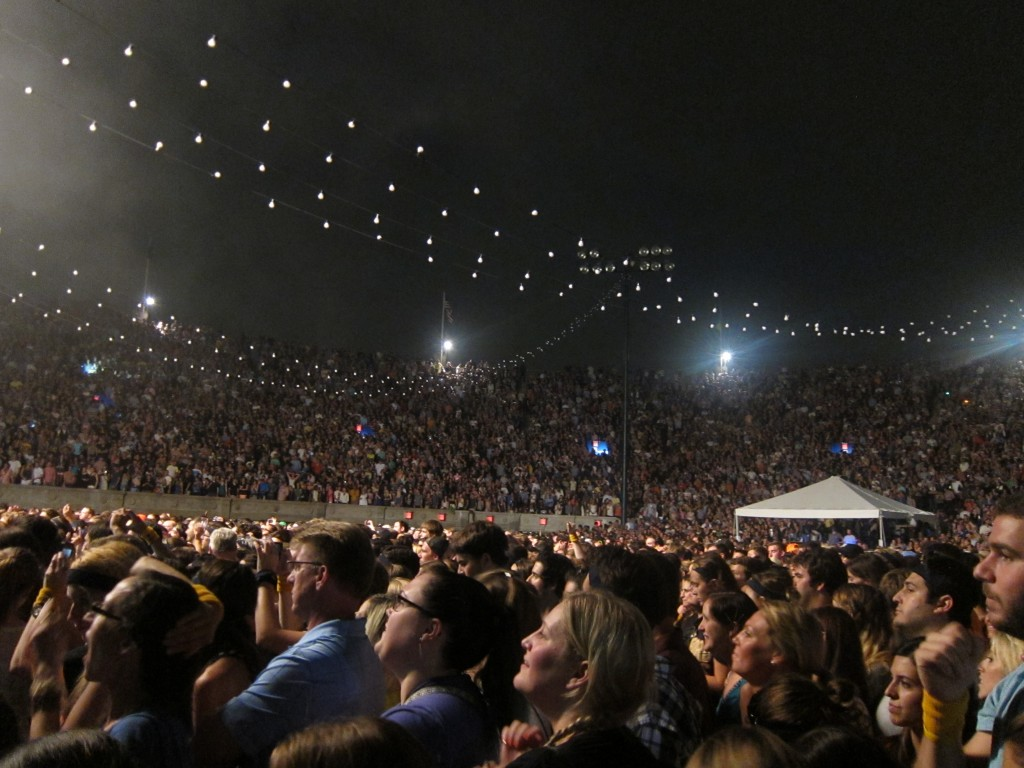 Thousands of people flocked to the Forest Hills stadium to hear Mumford and Sons play last August. Photo courtesy Michael Perlman