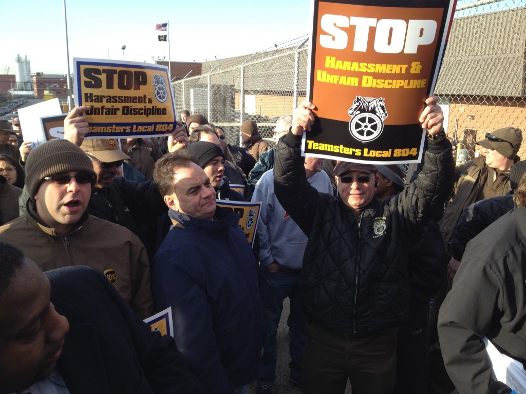 UPS workers are pushing back against mass terminations in response to a February walkout. Photo by Phil Corso