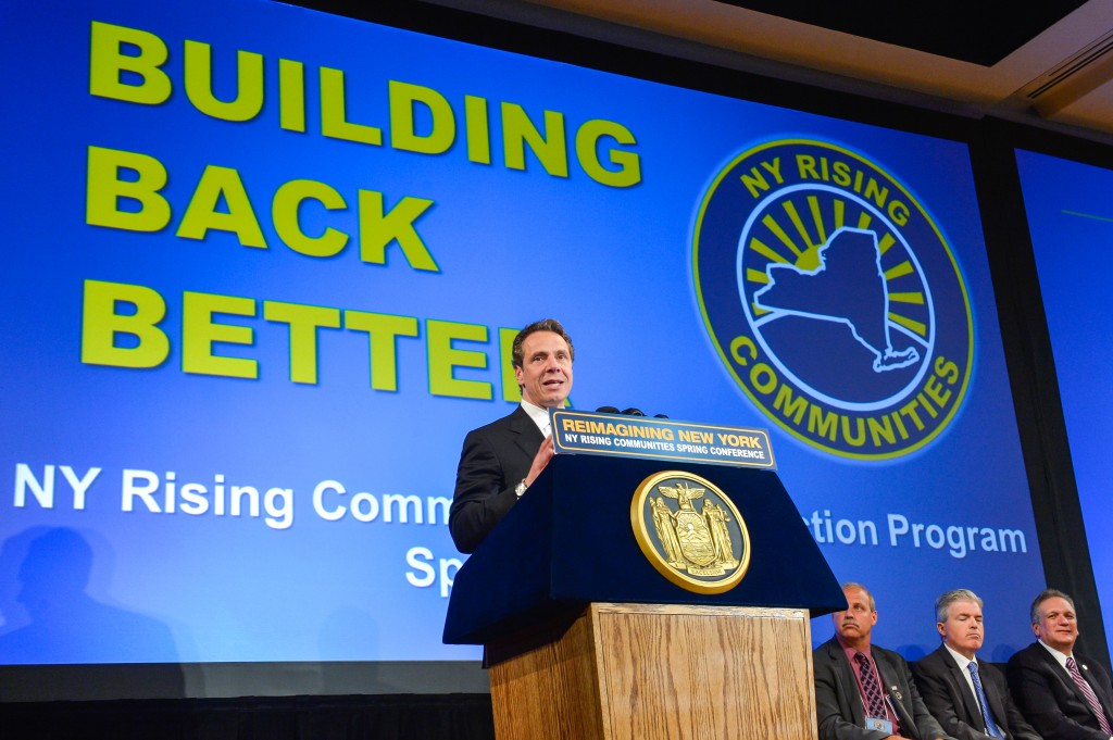 Gov. Andrew Cuomo led a New York Rising conference in Albany last week.  Courtesy Gov. Andrew Cuomo's Office