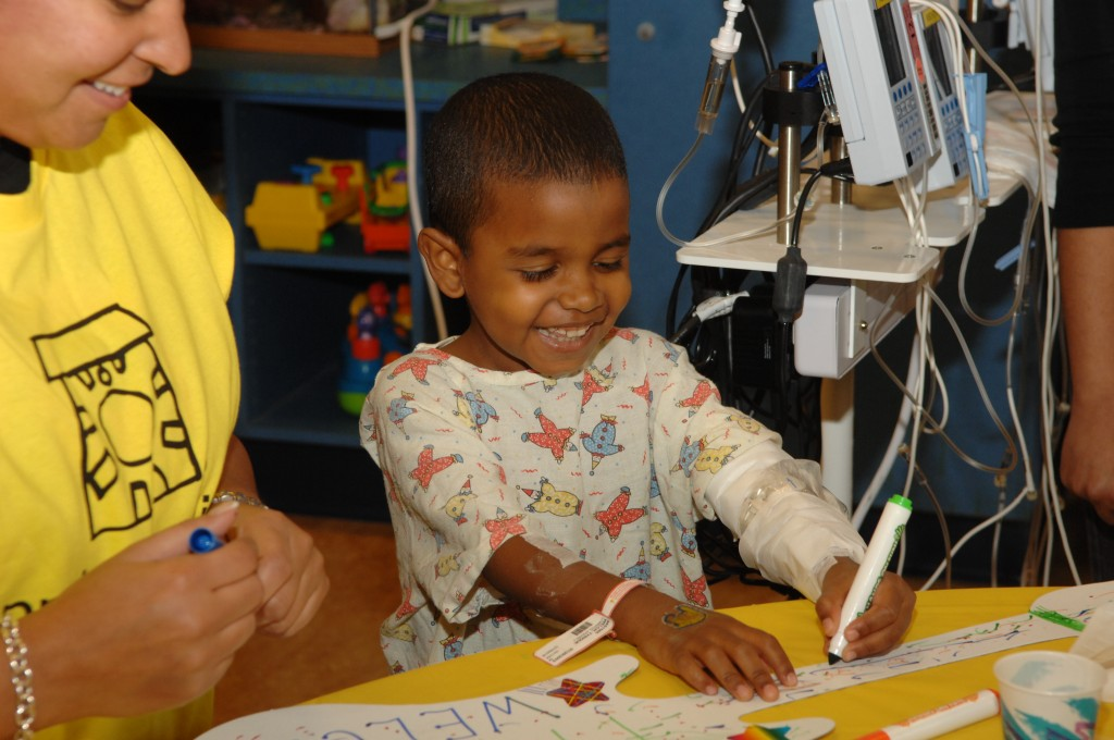 The Project Sunshine volunteers work at a variety of health institutions in the borough, including Jamaica Hospital Medical Center and St. Mary's Hospital for Children in Bayside.