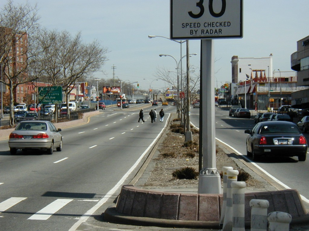 Civic leaders in Forest Hills and Kew Gardens are seeking ways to make life better for pedestrians, bicyclists, and drivers on the notoriously dangerous Queens Boulevard. Photo courtesy Transportation Alternatives