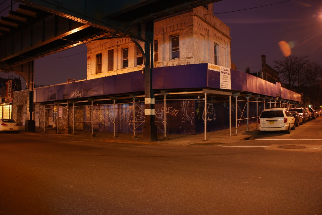 The owner of a partially collapsed building on Jamaica Avenue in Woodhaven was expected to argue in court Wednesday that the city should not be permitted to tear down his building.  Courtesy Photo