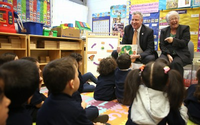 De Blasio Boasts Pre-K Program in Ridgewood