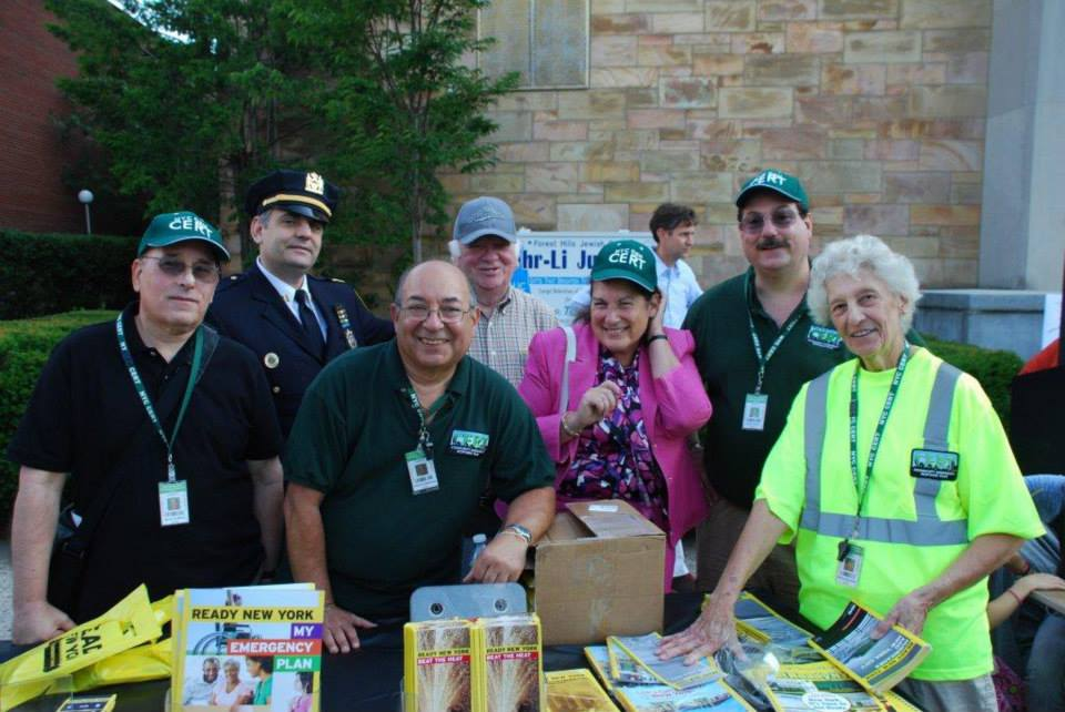 The Forest Hills/Rego Park Community Emergency Response Team recently landed top honors from the city, receiving the citywide deployment award for its exceptional service over the past year.  Photo courtesy Forest Hills/Rego Park CERT