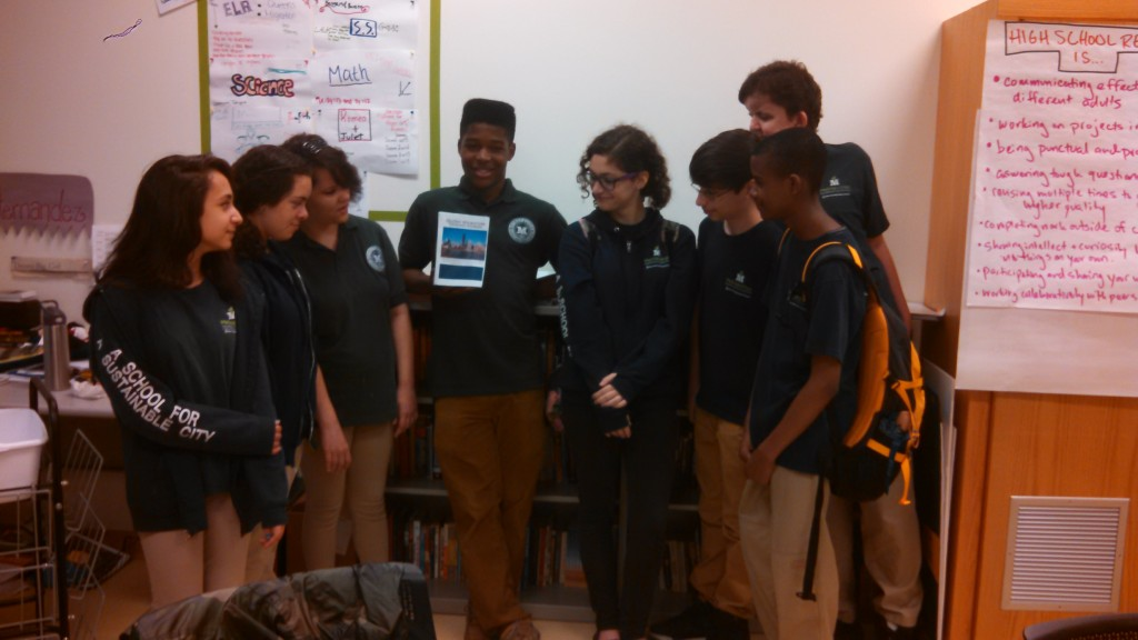 """A group of middle school students in Forest Hills wrote """"Queens Migration: Origins Stories,"""" which will be presented at a book launch this Saturday.  Photo courtesy Metropolitan Expeditionary Learning School"""