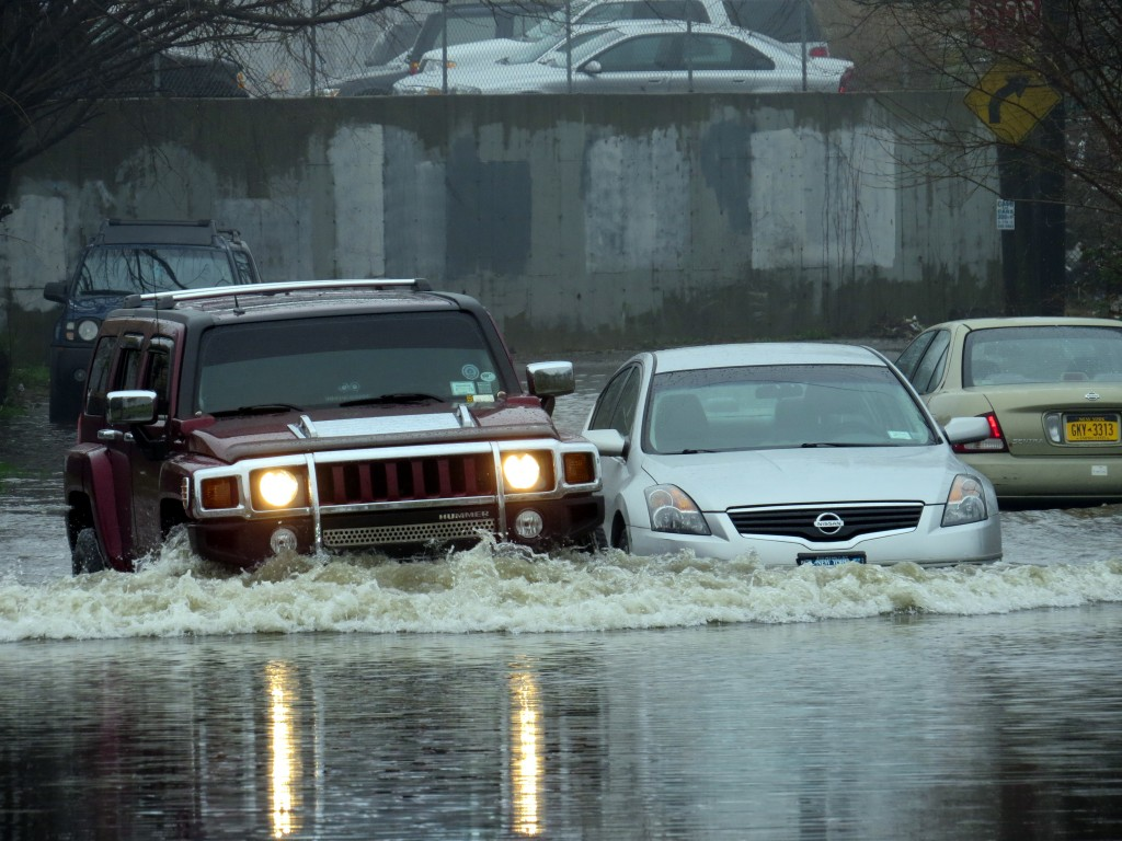 More than five inches of rain fell on Lindenwood during an April 30 storm. Photo by Robert Stridiron