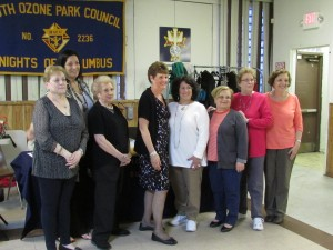 The members of the Richmond Hill South Civic Association were sworn into their positions during the meeting. Margaret Finnerty, fourth from left, will serve as the group's president for her 21st year. Photo by Michael Florio
