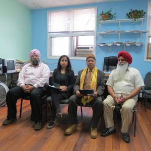 Four South Asian leaders said at a press conference Monday that they want someone from their community to challenge Assemblyman David Weprin.    Photo by Anna Gustafson