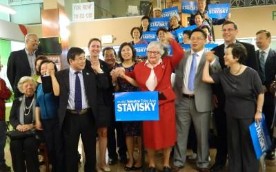 Stavisky Kicks Off Reelection Bid