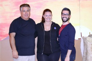 Producer Frank Gulluscio, left to right, choreographer Melissa Planty, and director Vinny Napolitano.  Courtesy St. Mary Gate of Heaven School