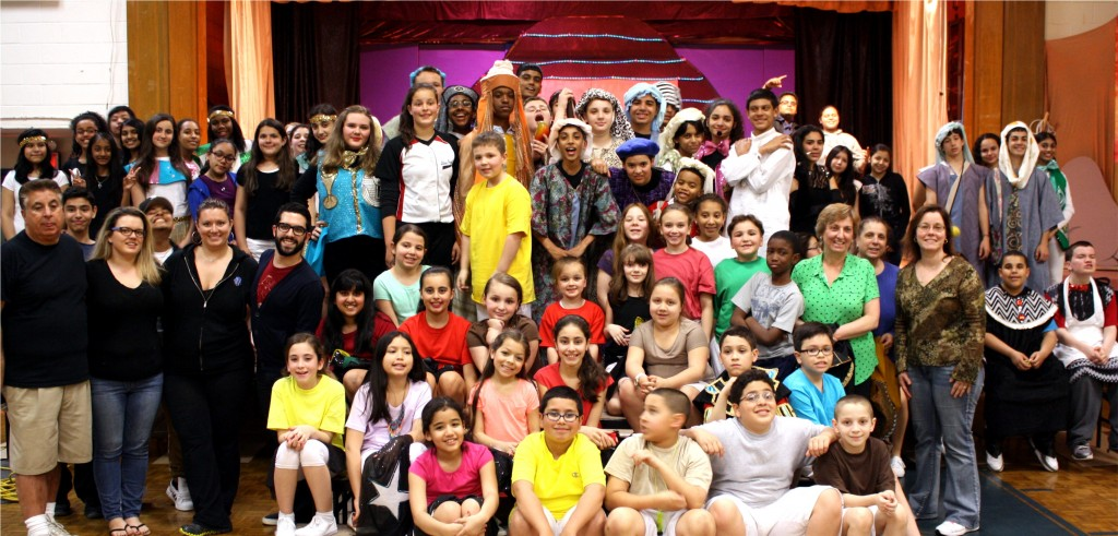 "A cast of 80 students thrilled audiences with their rendition of ""Joseph and the Amazing Technicolor Dreamcoat"" last Friday and Saturday.   Courtesy St. Mary Gate of Heaven School"