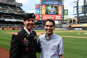 Lt. Col. Thomas Sullivan, left, and Councilman Eric Ulrich at Saturday's festivities.  Photo courtesy Councilman Eric Ulrich's Office