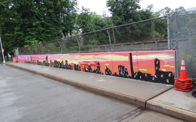 Kew Gardens Overpass Lands Mural Makeover