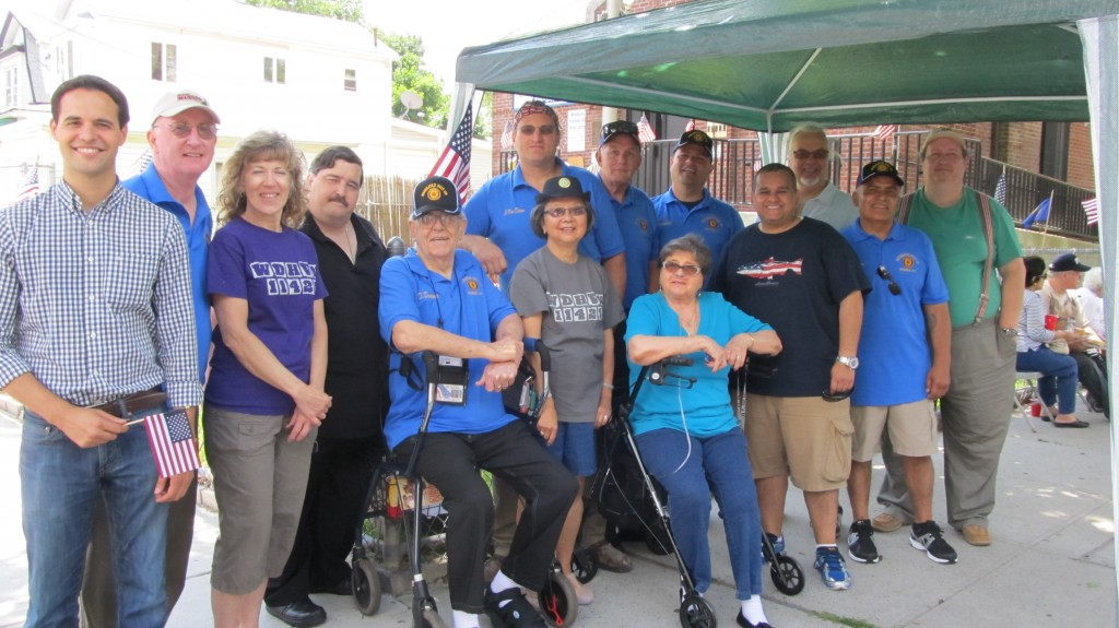 Veterans, civic leaders, and elected officials gathered at the American Legion Post 118 in Woodhaven Saturday to say thank you to the individuals who served our country with a special barbecue.  Photo courtesy Josephine Wendell