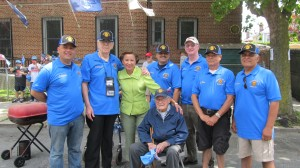 Veterans were joined by U.S. Rep. Nydia Velazquez, center, at Saturday's festivities.  Photo courtesy Josephine Wendell