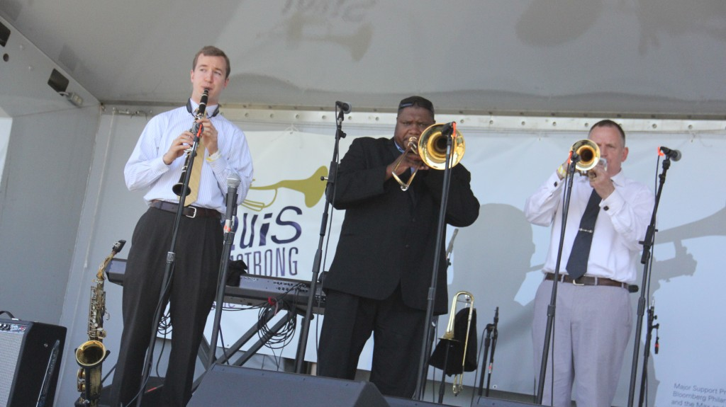 David Ostwald's Louis Armstrong Eternity Band was the first performance to kick off the inaugural Louis Armstrong International Music Festival.   Photos by Cesar Bustamante