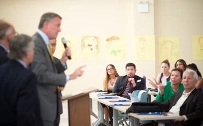 De Blasio Touts After-School Initiative in Richmond Hill