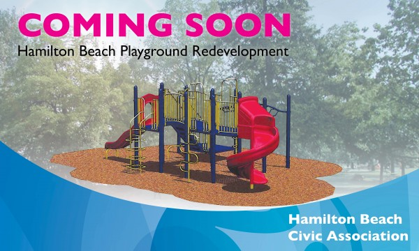 A brand new playground is in the works for Hamilton Beach with a completion date set for September. Rendering courtesy Resorts World