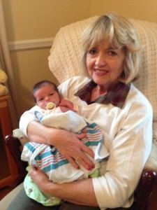 Author and Broad Channel native Marguerite Rocholl with her granddaughter, Audrey Photo courtesy of Marguerite Rocholl