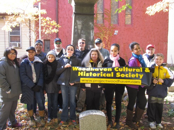 The Woodhaven Cultural & Historical Society on Saturday cleaned up the Wyckoff-Snedicker Family Cemetery.  Photos Courtesy of Ed Wendell