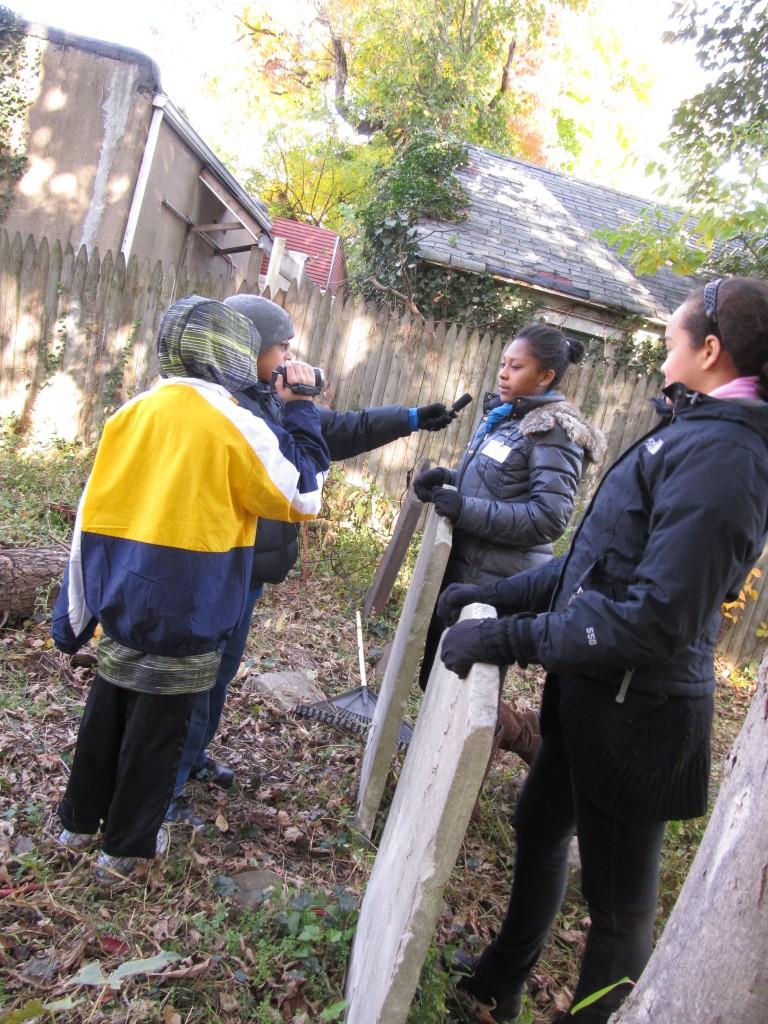 Woodhaven Volunteers Clean Colonial-Era Cemetery