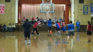 Resurrection Ascension School in Rego Park played host to the highly contested game. Photo by Michael V. Cusenza