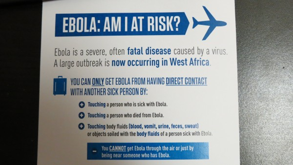 Borough Board Concerned with City Ebola Info Card