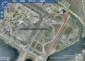 An aerial view of JFK shows the extensive number of communities impacted by the plane noise.  File Photo