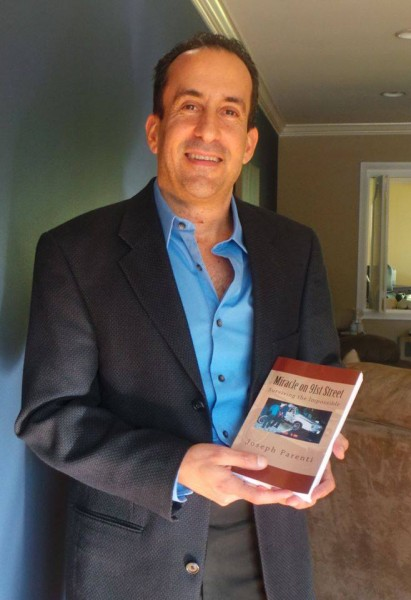 Parenti with his new book, Miracle on 91st Street.  Photo courtesy of Joseph Parenti