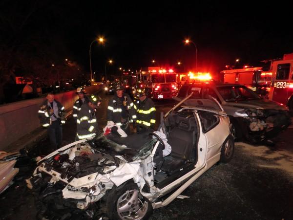 Six-Car Crash in Woodhaven Leaves Nine Injured