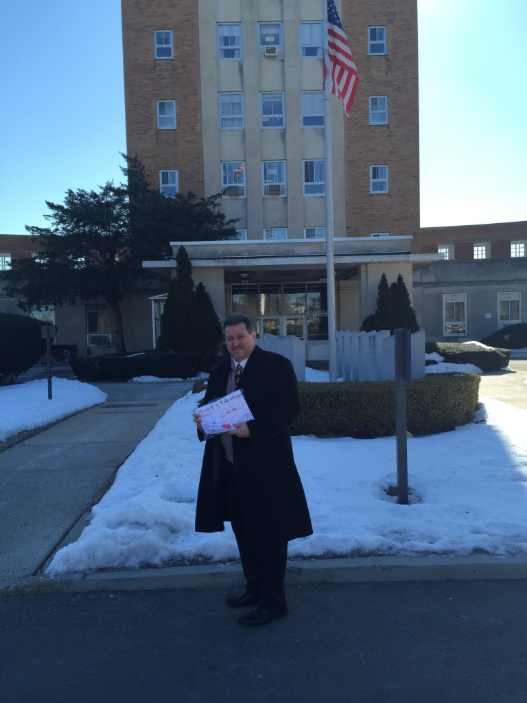 Addabbo Delivers Students' Valentine's Day Cards to Veterans