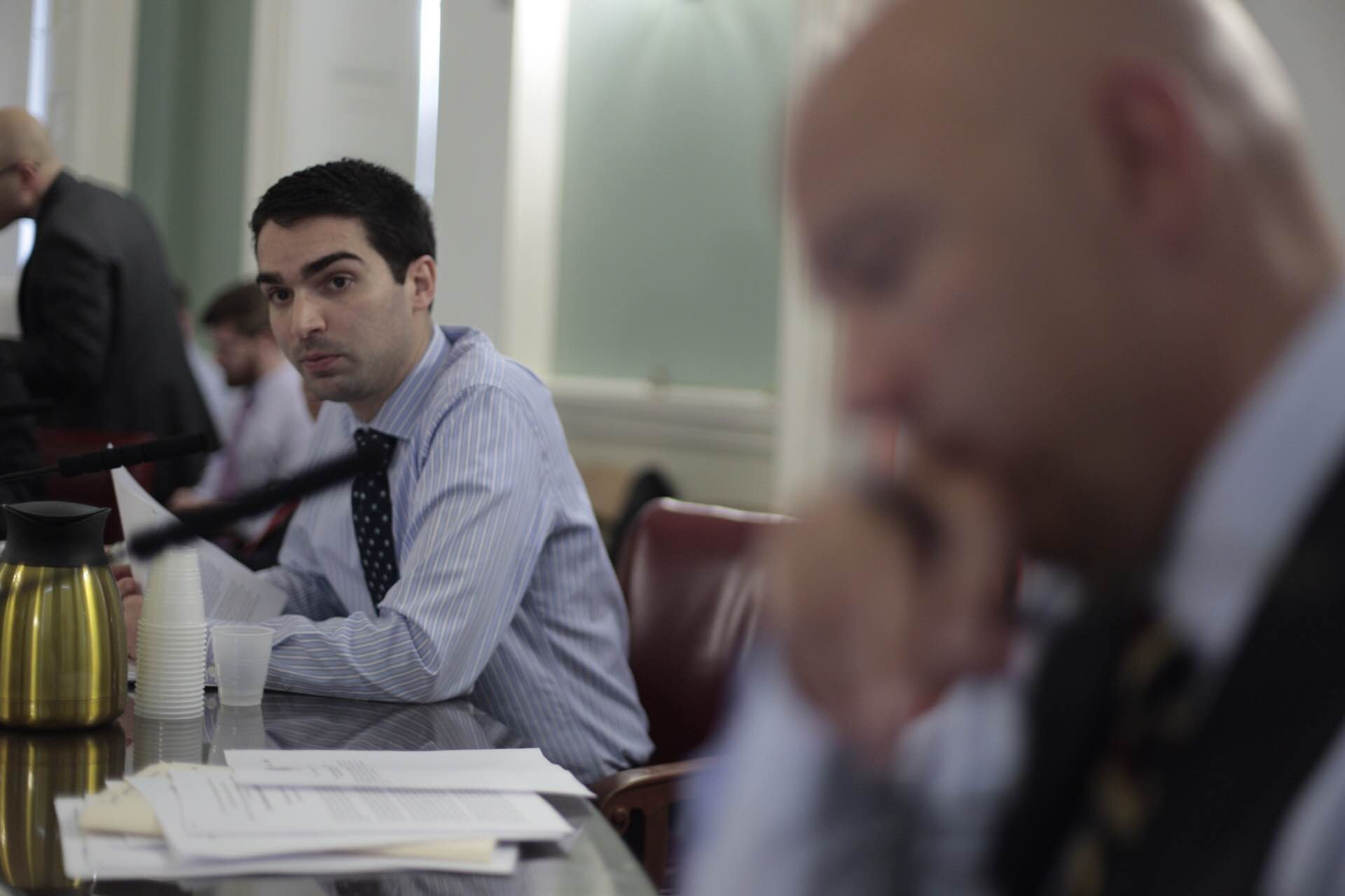 City Councilman Eric Ulrich (R-Ozone Park) chairs the council's Veterans Affairs Committee. Photo Courtesy of City Council/William Alatriste.