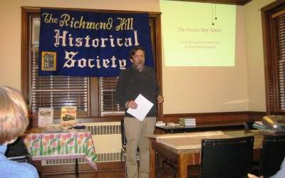 Subway Historian Visits Richmond Hill Historical Society
