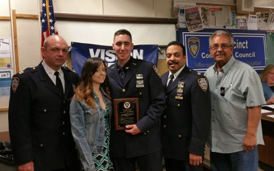 From Near-Fatal Accident to 106th Pct. Cop of the Month