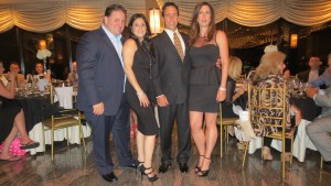 Nicky and Rosie Guida (from l.) and Joe and Roe Giustiniani received awards and City Council proclamations Friday night at AMCA's 6th annual Dinner-Dance at Romaview.