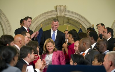 De Blasio, Council Reach Budget Agreement; $78.5B plan adds cops, funds for libraries